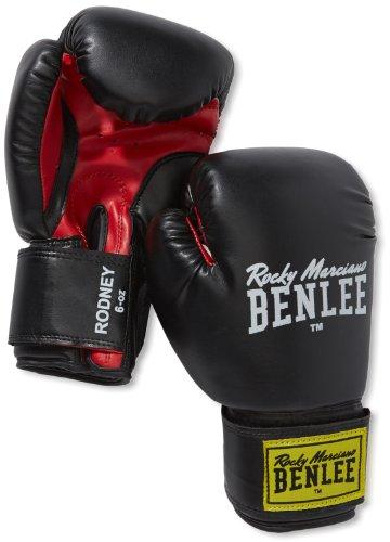 BENLEE Rocky Marciano Boxhandschuhe Training Gloves Rodney, Schwarz/Rot, 10, 194007